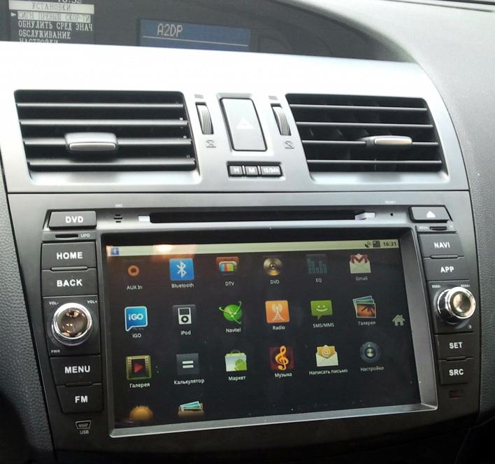 Mazda3 new android - Ca-Fi. Штатное головное устройство на Android для Mazda 3 New (2011 г.)